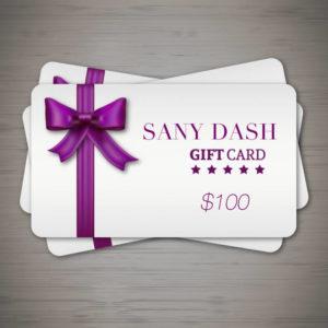 Sany Dash Gift Card 100 sanydash.com